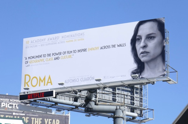 Marina de Tavira Supporting Actress Oscar nominee Roma billboard