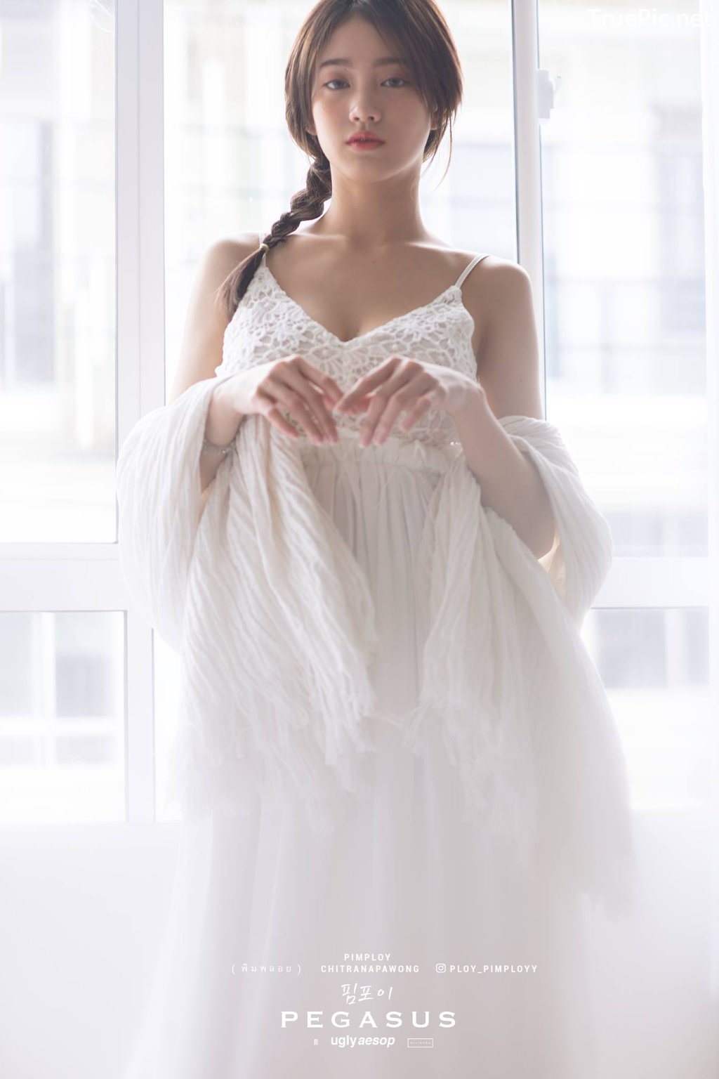 Image Thailand Model - Pimploy Chitranapawong - Beautiful In White - TruePic.net - Picture-4