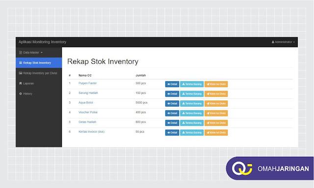 Fitur Rekap Stok Inventory Barang Review Aplikasi Inventory Barang Berbasis Web Php, MySQL dan Codeigniter