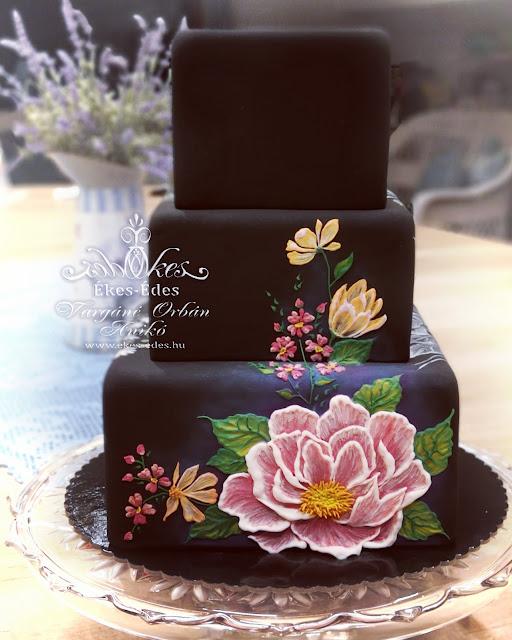 glazúr festett torta