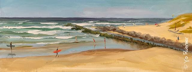 Contis Waves pleinairpainting