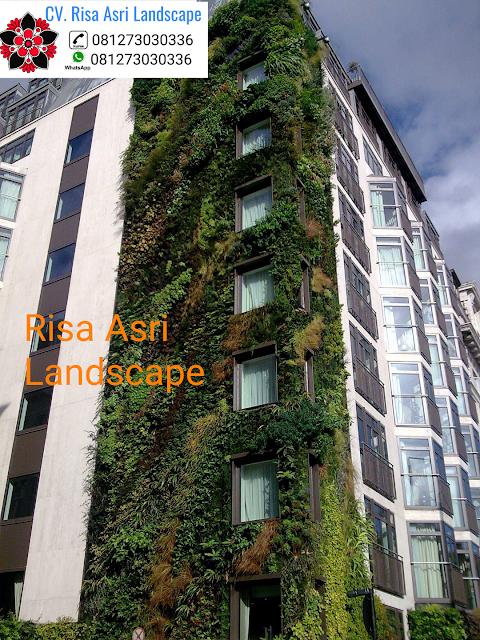 CV. RISA ASRI LANDSCAPE gambar taman vertikal vertical garden wall