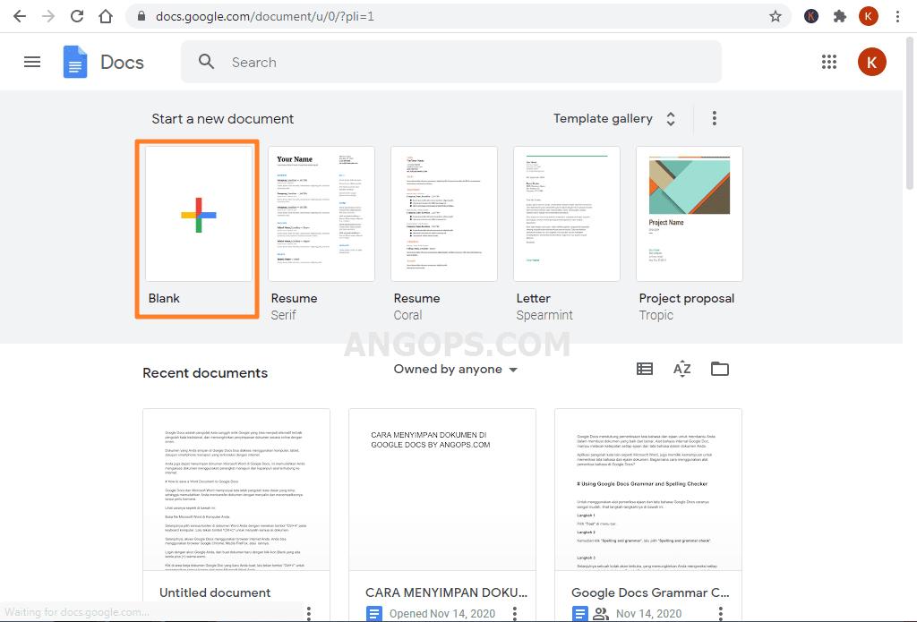 cara menyimpan file di google docs