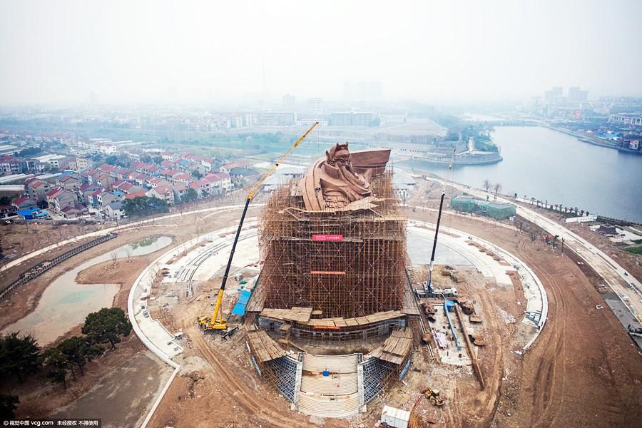 ภาพรวมของสถานที่ ที่กำลังจะเป็นทั้งแหล่งท่องเที่ยวและสถานที่ศักดิ์สิทธิ์ของเมืองเกงจิ๋ว