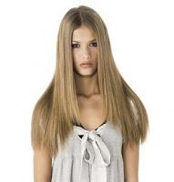 Coupe de cheveux pour les cheveux droits et longs