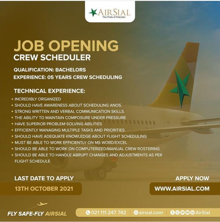 AirSial Jobs 2021 for Fresh Cabin Crew-Air hostess Jobs