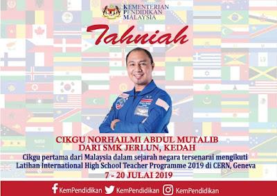 Ucapan Tahniah daripada Kementerian Pendidikan Malaysia. Terima kasih KPM!