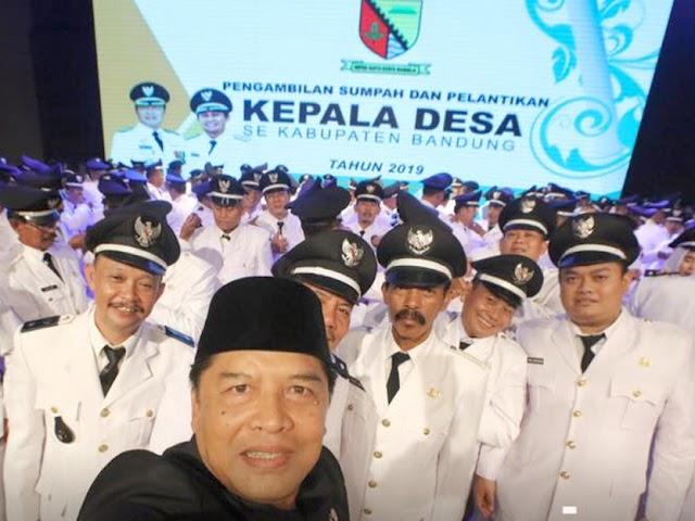 199 Kepala Desa Terpilih di Kabupaten Bandung Dilantik Bupati Dadang Naser