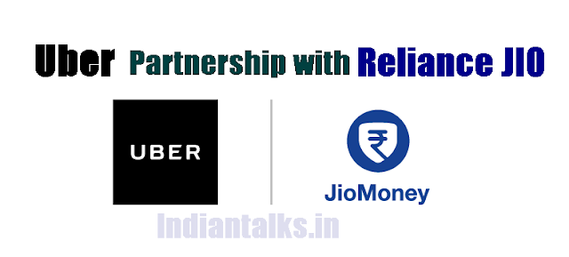 Uber and Reliance JIO Partnership to allow Cash Payments using JIO Money App