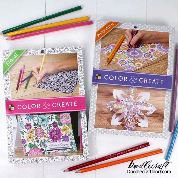 Adult coloring books and colored pencils for relaxation and stress relief.