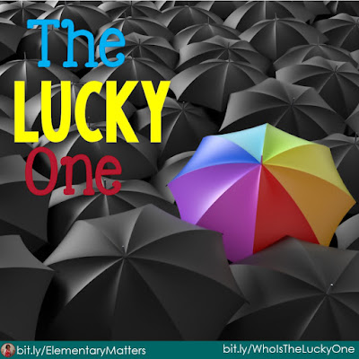The Lucky One: This is a little trick I learned from the cafeteria ladies in my school. Different is lucky!