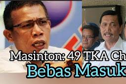 49 TKA China Masuk Indonesia