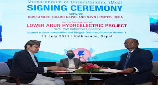 Nepal signed Deal with India's SJVNL