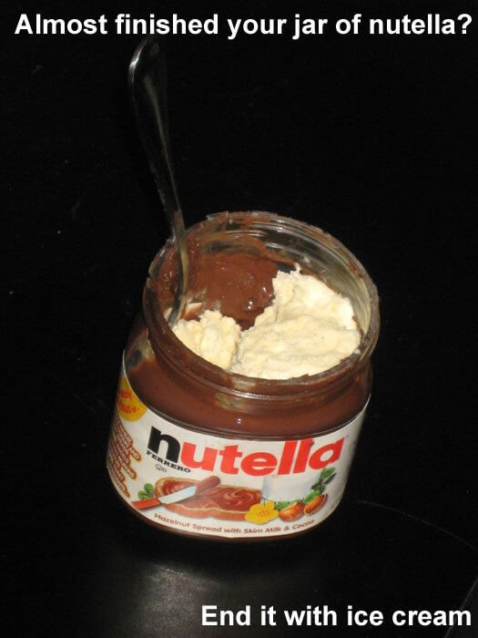 How to make sure everything on a Nutella bottle is eaten