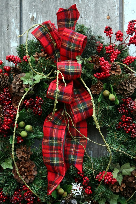 eye for design decorating with tartan plaidespecially at christmas