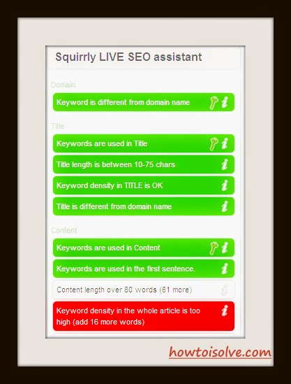 Squirrly SEO points - Make use of Squirrly in wordpress