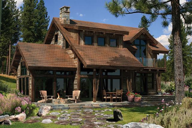 nhà gỗ đá