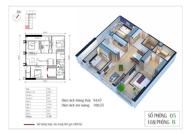 Thiết kế căn hộ số 05 Eco-green city