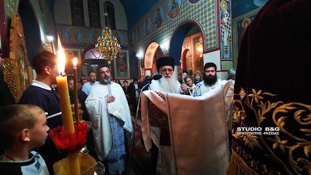 Ο Μητροπολίτης Αργολίδας στους πρώτους Χαιρετισμούς στον Άγιο Γεώργιο Πυργιωτίκων Ναυπλίου