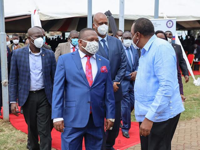 President Uhuru Kenyatta and Mike Sonko photo