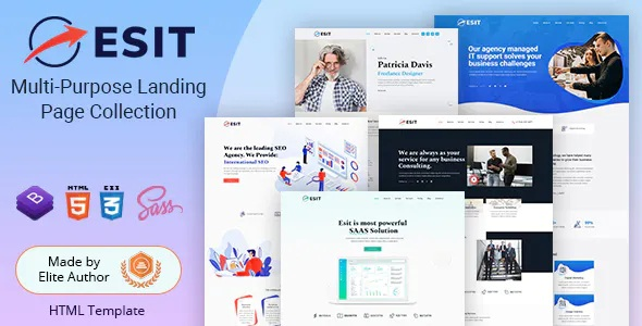 Best Multipurpose Landing Page HTML Templates
