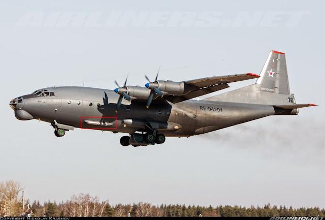 Análisis Militares: Antonov An-12 con inusual lanzador de bengalas y ...