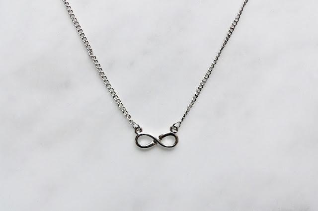 bornprettystore silver infinte ketting chain
