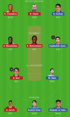 AFGH vs ZIM dream 11 team | ZIM vs AFGH