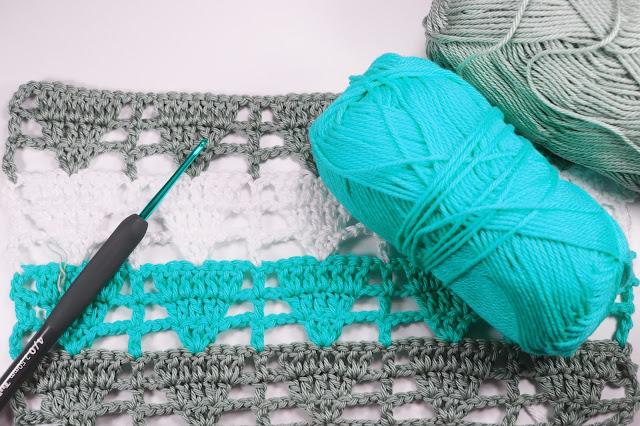 5 - Crochet Imagen Puntada de triangulo calada a crochet y ganchillo por Majovel Crochet