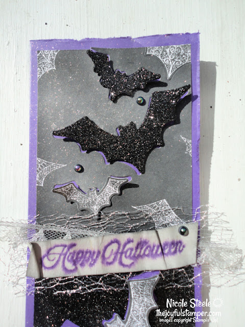 halloween card, slimline card, magic in this night, stampin' up!, how to make a card, card tutorials, card videos, nicole steele, indpendent stampin' up! demonstrator from Pittsburgh PA, The Joyful Stamper