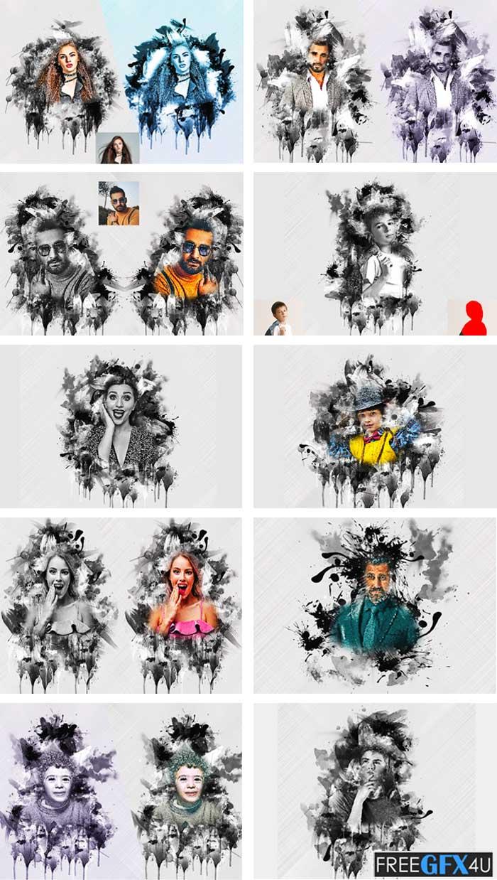 Grunge Ink Photoshop Action