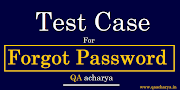 Test Cases For Forgot Password functionality