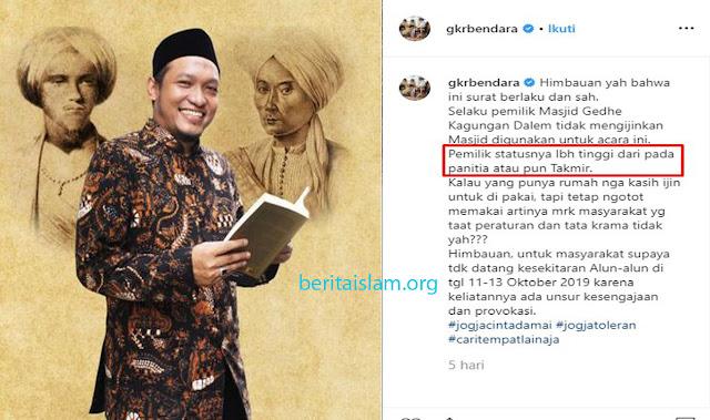 Ustadz Salim Afillah: Pemilik Masjid Yang Paling Berhak Memakmurkannya
