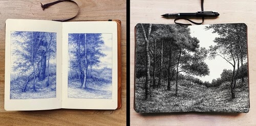 00-Tree-and-Forest-Drawings-Luis-Colan-www-designstack-co