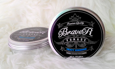 Premium Quality Pomade Braver Heavy Kingdom Water Based Blue 4oz