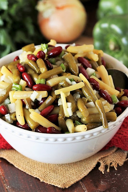 Serving Bowl of Classic 3-Bean Salad Image