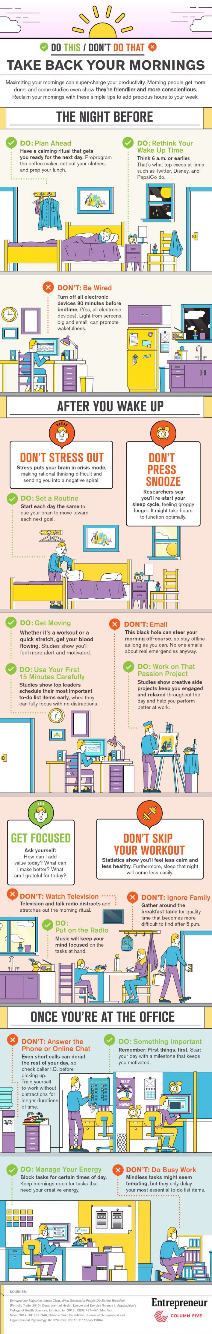 Take Back Your Mornings #infographic