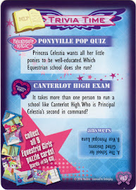 My Little Pony Equestria Girls Puzzle, Part 9 Equestrian Friends Trading Card