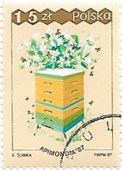 Selo Caixa de abelhas