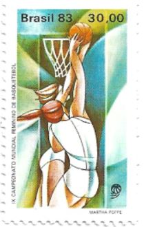 Selo basquete feminino