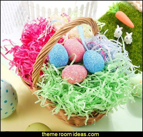 easter grass Easter Basket Grass Paper Shredded Tissue, Colorful Easter Grass Easter Grass Filler for Easter Egg Baskets