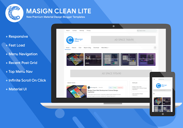 Masign Clean Lite 3.0 Responsive Blogger Template