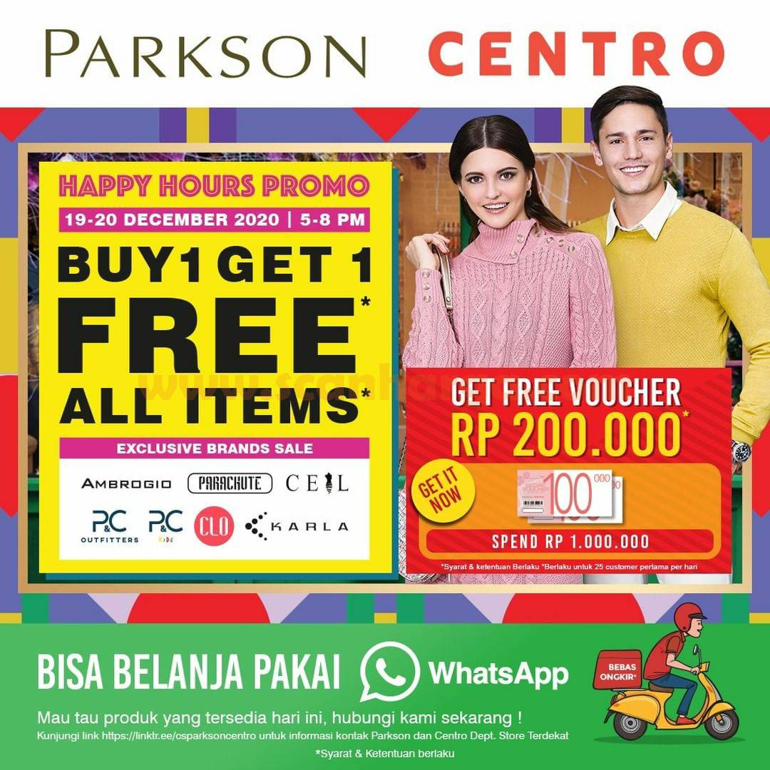 CENTRO Happy Hour Promo Buy 1 Get 1 Free All Items