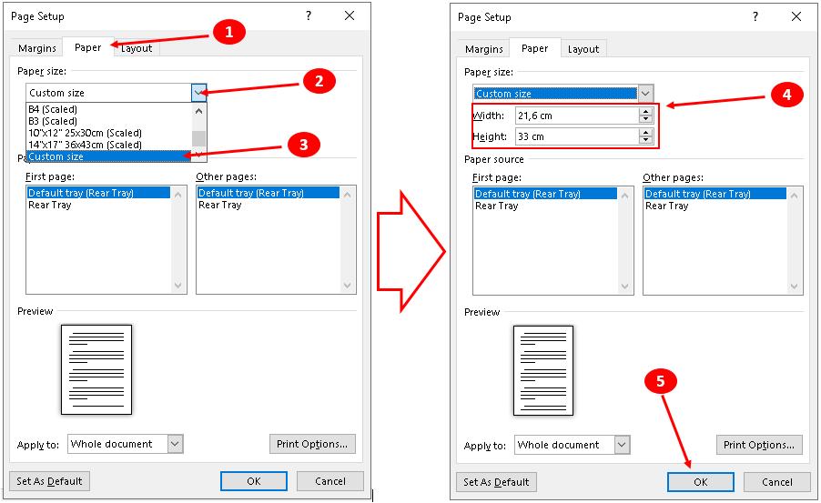 Mengatur Kertas F4 Pada Microsoft Word