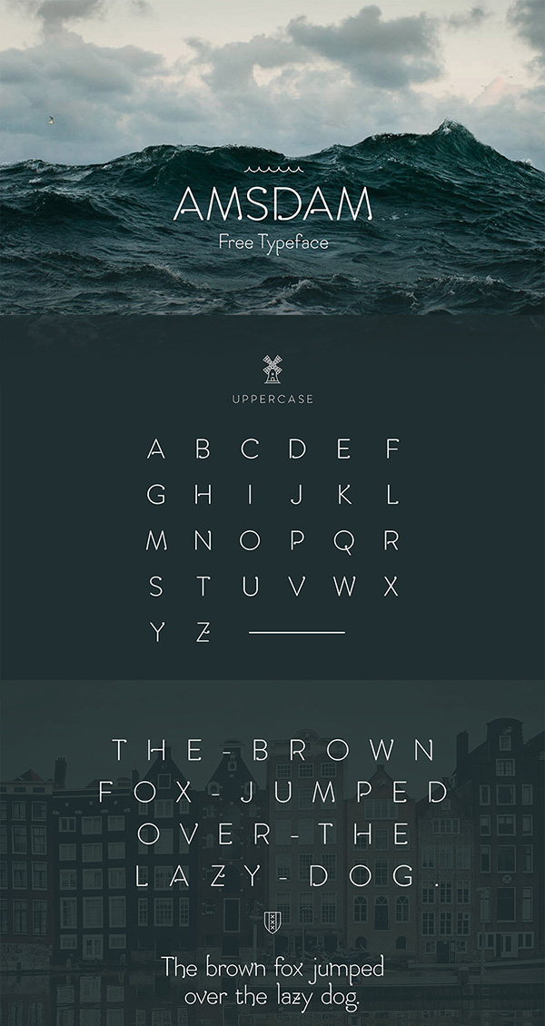 Download Gratis Font Terbaru September 2015 - Amsdam Typeface