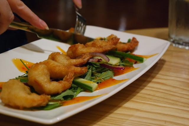 Grosvenor Casino Food Review Tempura Chipotle Prawns