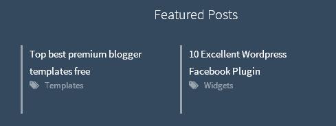 featured post widget