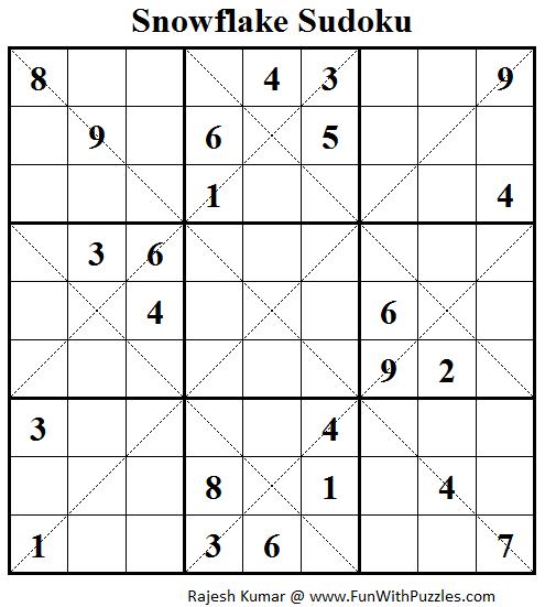 Snowflake Sudoku (Daily Sudoku League #109)