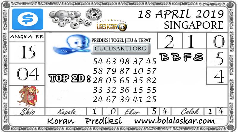 Prediksi Togel SINGAPORE LASKAR4D 18 APRIL 2019