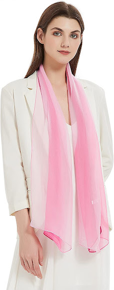 Lovely Sheer Soft Pink Chiffon Scarves Shawls